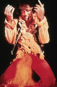 Hendrix on fire